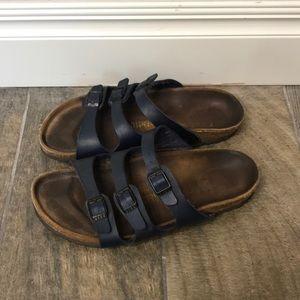 Birkenstock Navy 3 strap sandals size 38